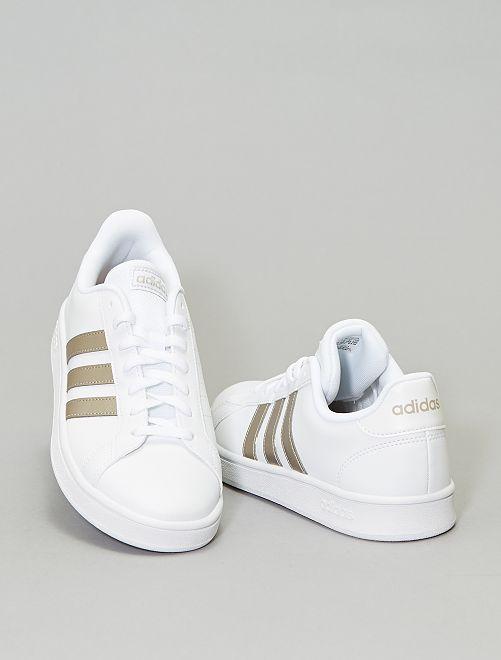 Zapatillas deportivas 'adidas grand court base'                             BLANCO
