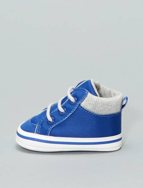Zapatillas deportivas altas bicolores                             azul Bebé niño