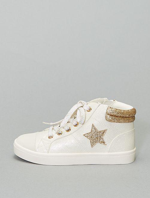 Zapatillas deportivas altas brillantes                             blanco