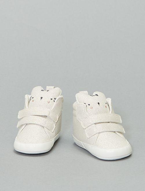 Zapatillas deportivas altas con cabeza de animal                             BLANCO