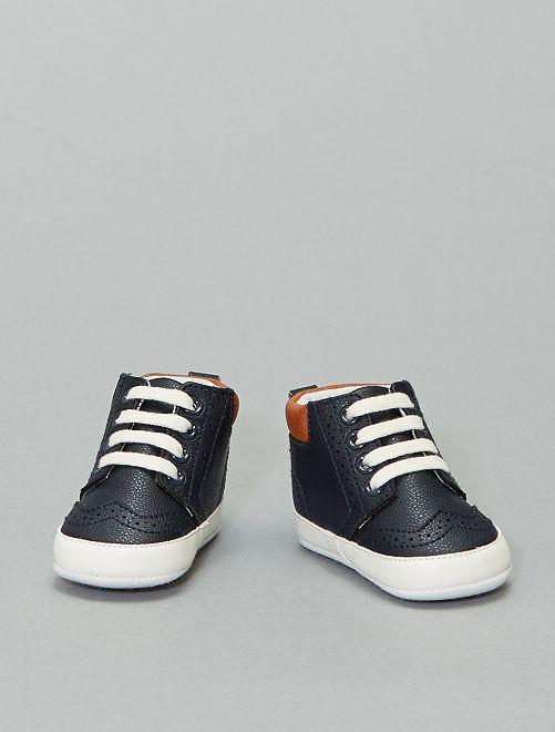 Zapatillas deportivas altas con cordones                                         azul