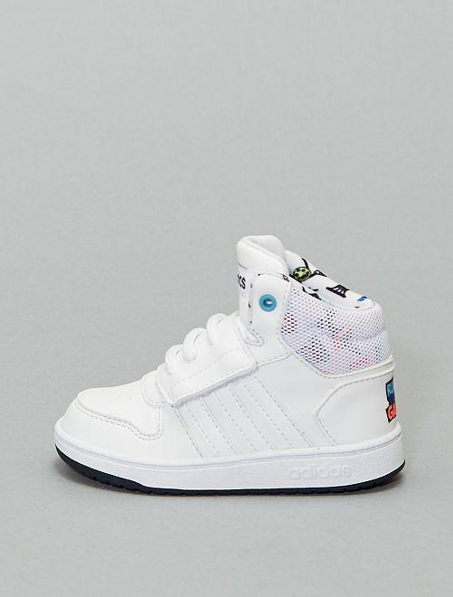 Zapatillas deportivas altas con velcro 'Adidas Hoops'                             BLANCO