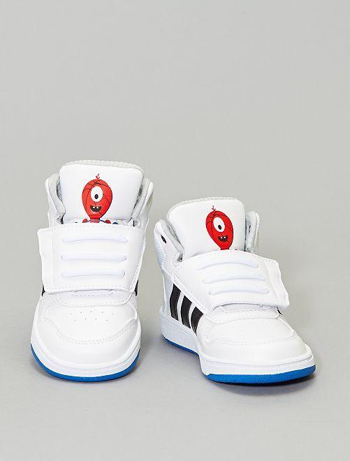 Zapatillas deportivas altas con velcros 'Adidas Hoops Mid'                                                     BLANCO