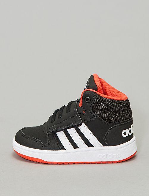 Zapatillas deportivas altas con velcros 'Adidas Hoops Mid'                                                     NEGRO