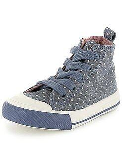 Niña 3-12 años Zapatillas deportivas altas de lunares