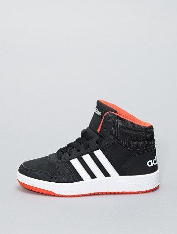 a7048a994fa Zapatillas deportivas altas de piel sintética  Adidas HOOPS 2 0 K  - Kiabi
