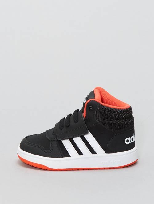Zapatillas deportivas altas de piel sintética 'Adidas HOOPS MID 2 0'                                                                                                                 NEGRO Bebé niño