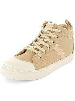Niña 3-12 años - Zapatillas deportivas altas de piel sintética - Kiabi