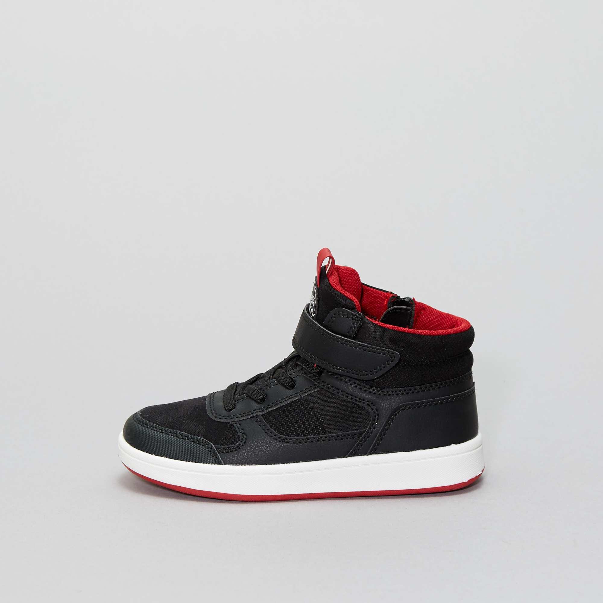 0f020ea0 Zapatillas deportivas altas de piel sintética y microfibra negro Chico