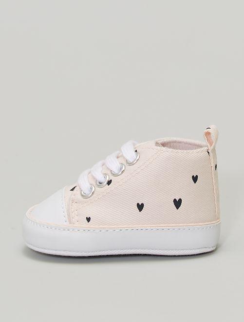 Zapatillas deportivas altas de tela                                         ROSA