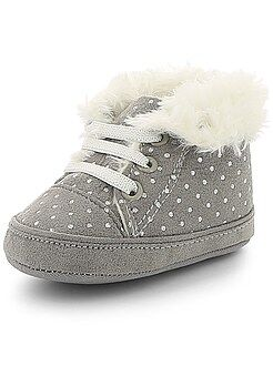 Zapatos - Zapatillas deportivas altas forradas de lunares