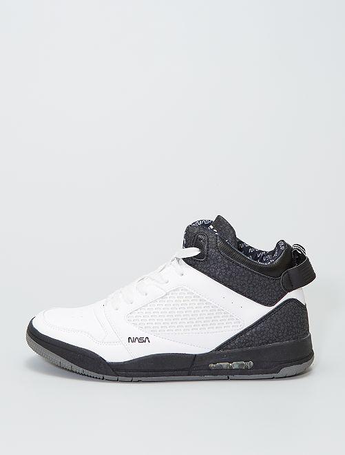 Zapatillas deportivas altas 'NASA'                             negro/blanco