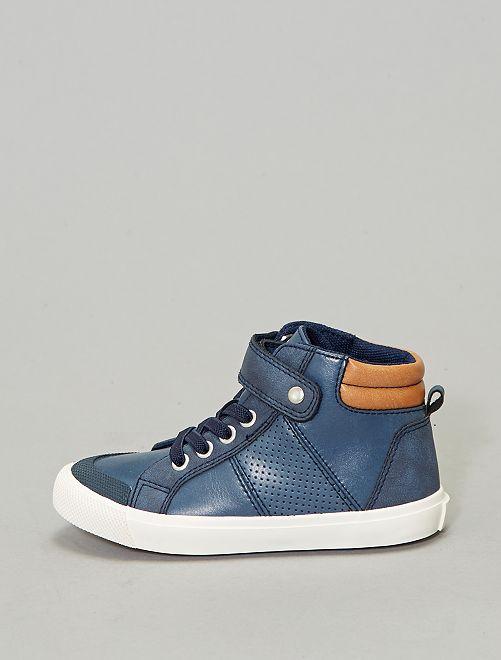 Zapatillas deportivas altas sintéticas                                                     azul navy