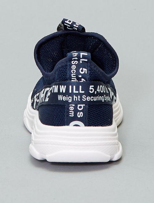 0a705e6dad9 Zapatillas deportivas altas tipo calcetines Chico - azul navy ...