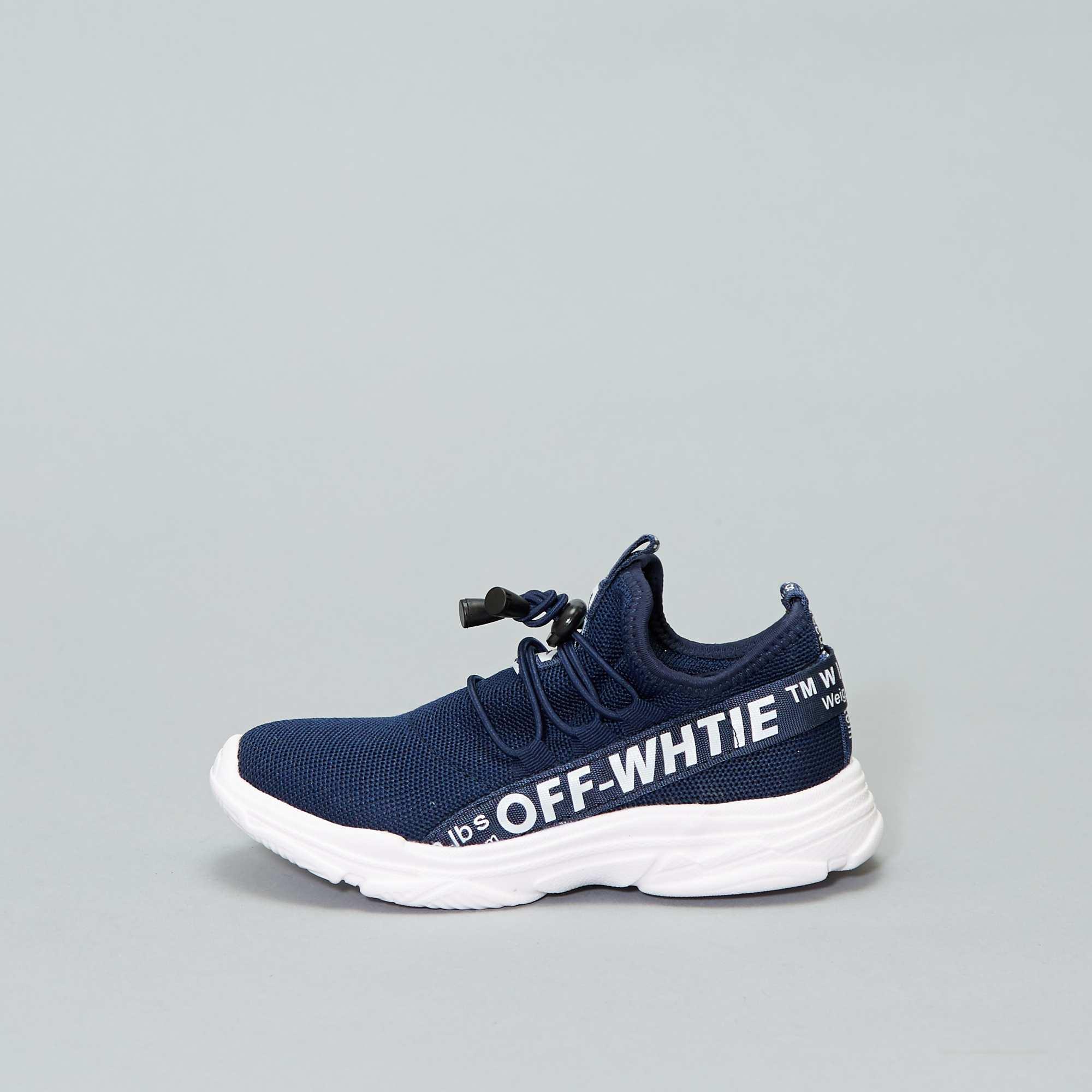 98a036e5fb3 Zapatillas deportivas altas tipo calcetines azul navy Chico. Loading zoom