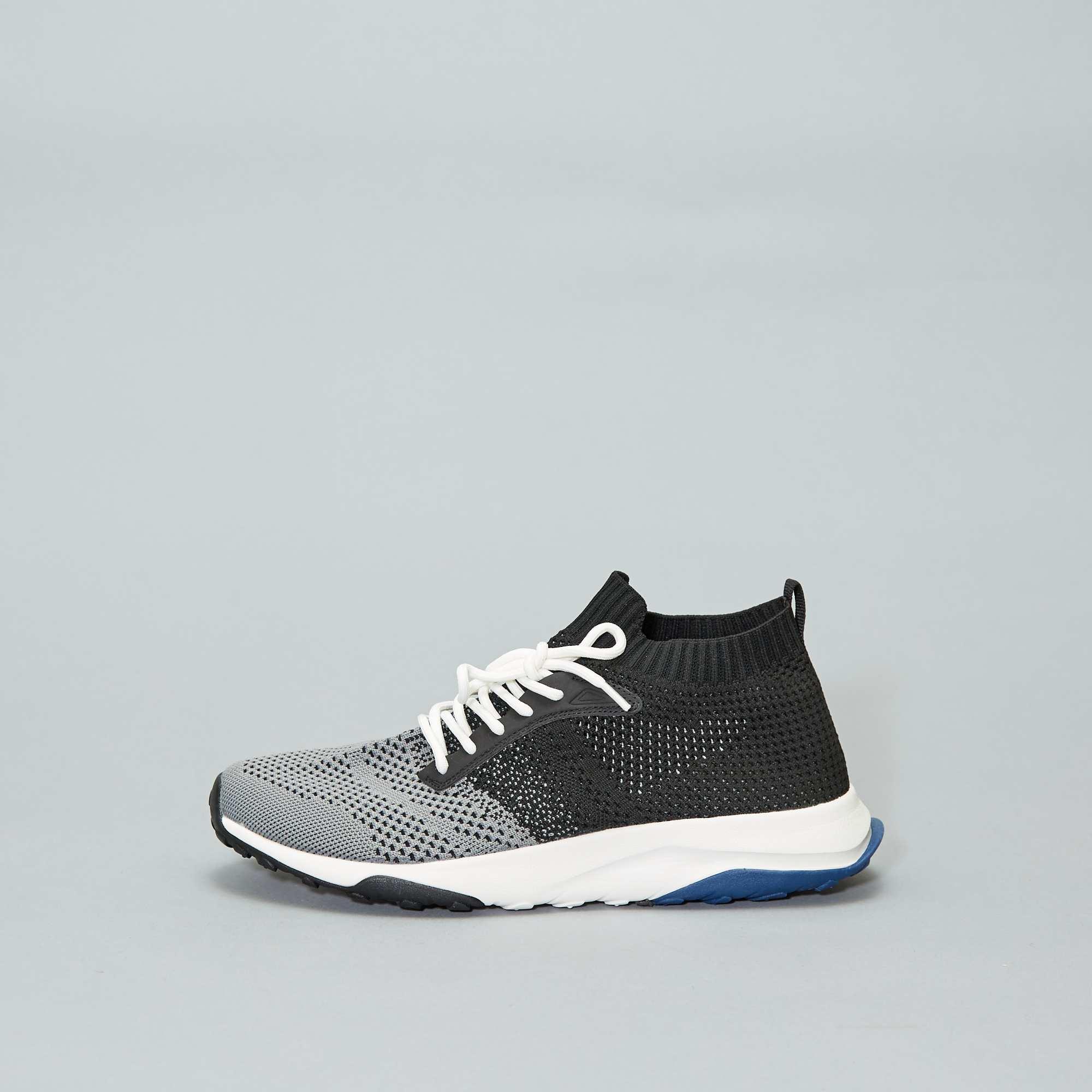 b0cd17fc9d0 Zapatillas deportivas altas tipo calcetines Hombre - negro - Kiabi ...