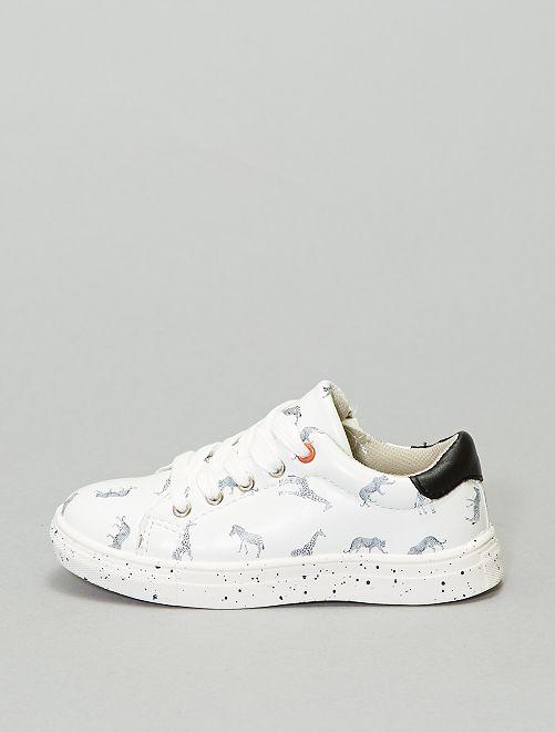 Zapatillas deportivas bajas 'animales'                             blanco