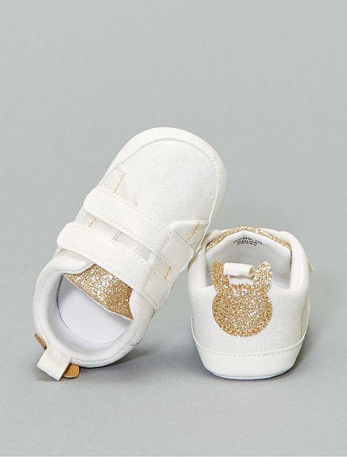 Zapatillas deportivas bajas brillantes                             blanco nieve