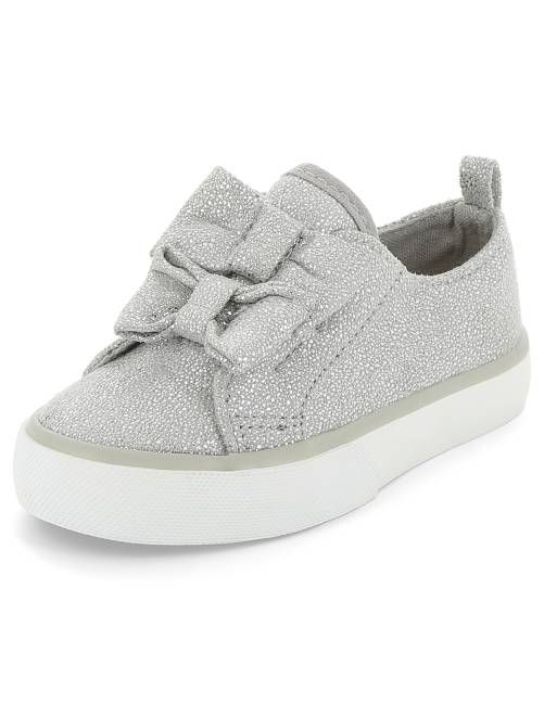 Zapatillas deportivas bajas brillantes                             plata Bebé niña