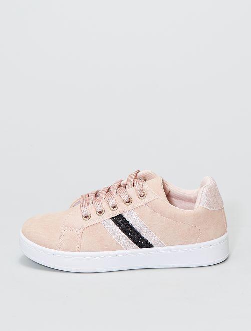 Zapatillas deportivas bajas brillantes                             ROSA