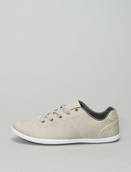 Zapatillas deportivas bajas con cordones                                         gris