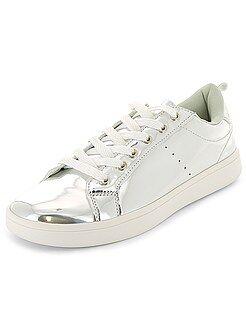 Mujer - Zapatillas deportivas bajas con cordones metalizados - Kiabi