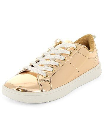 Zapatillas deportivas bajas con cordones metalizados - Kiabi
