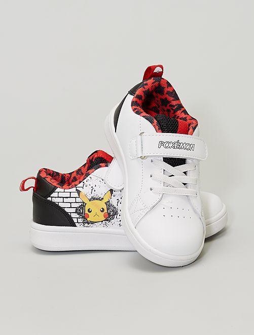 Zapatillas deportivas bajas con velcro 'Pikachu' 'Pokemon'                             blanco/negro