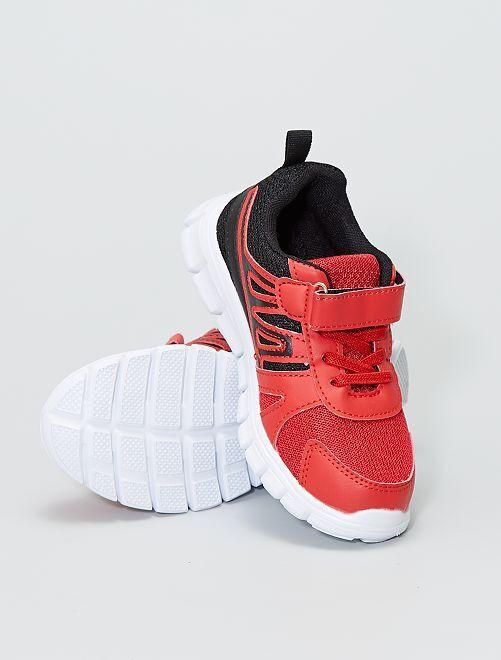 Zapatillas deportivas bajas con velcro                     ROJO