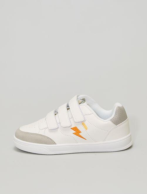 Zapatillas deportivas bajas con velcros                             blanco