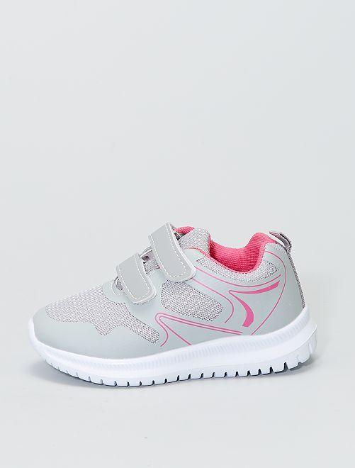 Zapatillas deportivas bajas con velcros                             gris