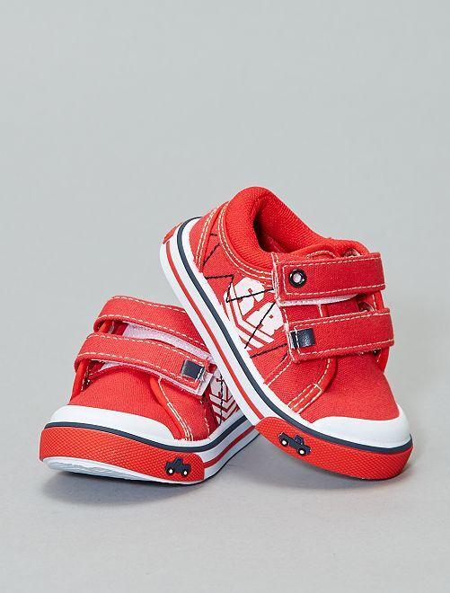 Zapatillas deportivas bajas con velcros                             ROJO Bebé niño