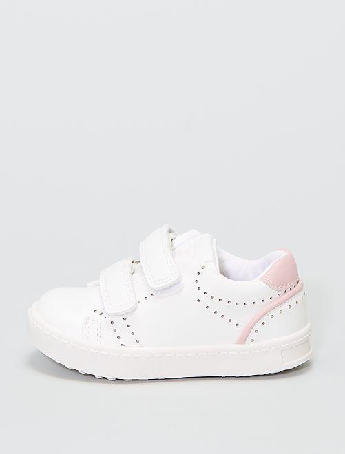Zapatillas deportivas bajas con velcros                             rosa