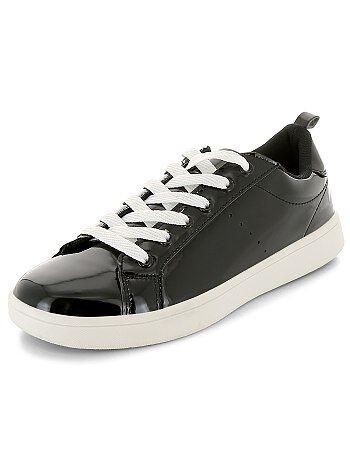 Zapatillas deportivas bajas de charol con cordones - Kiabi