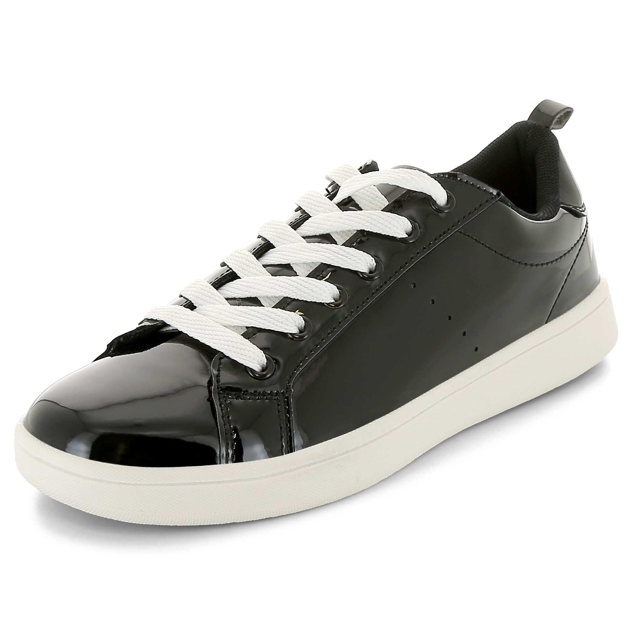 Zapatillas Bajas Piel sintética, Cierre con Cordones, Negro (Negro), 40