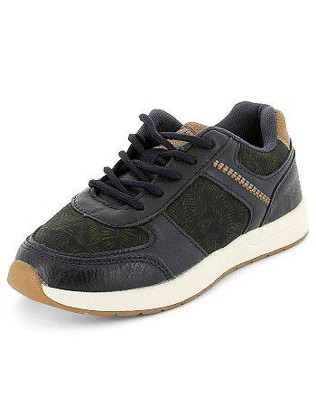 Zapatillas deportivas bajas de dos materiales - Kiabi