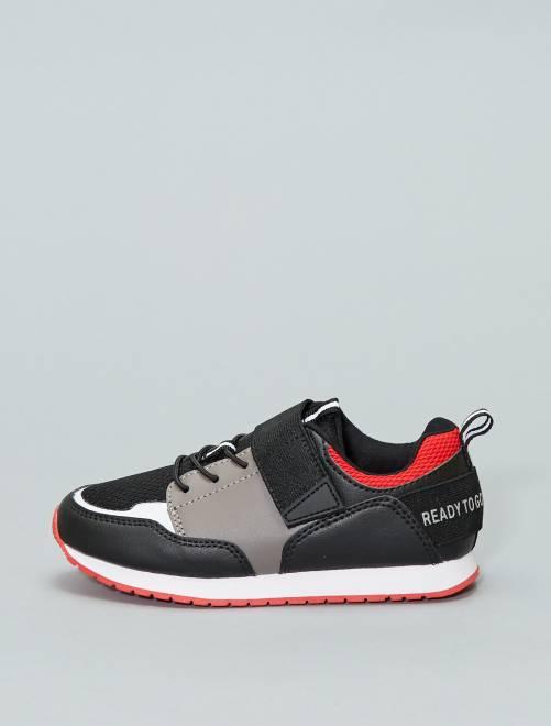 Zapatillas deportivas bajas de dos materiales                                         negro Chico