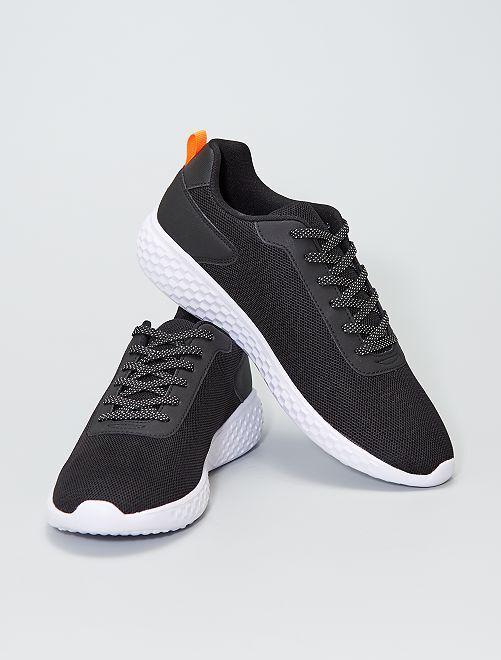 Zapatillas deportivas bajas de malla                                         negro