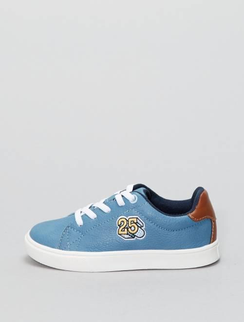 Zapatillas deportivas bajas de piel sintética                                         azul Chico