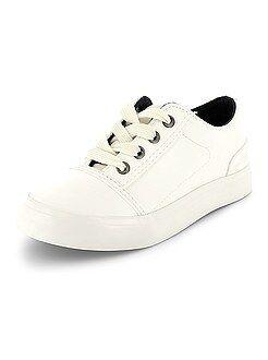 Zapatillas deportivas bajas de piel sintética - Kiabi