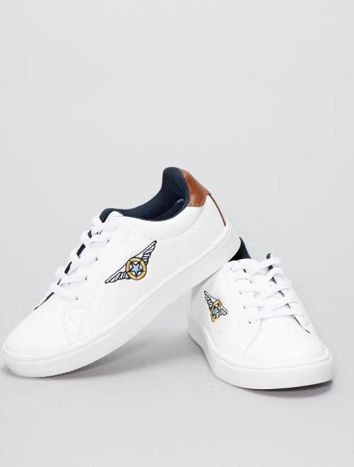 Zapatillas deportivas bajas de piel sintética                             blanco Chico