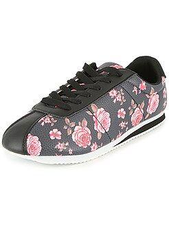 Mujer Zapatillas deportivas bajas de piel sintética estampado 'flores'