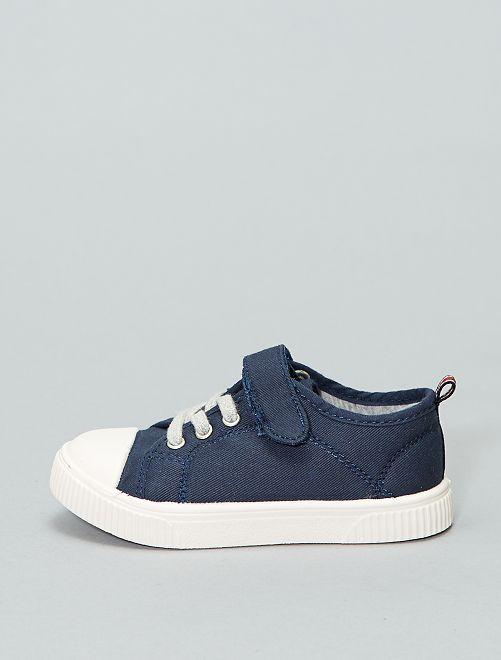 Zapatillas deportivas bajas de tela                                                     azul Chico