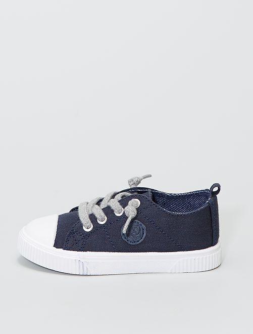 Zapatillas deportivas bajas de tela                             azul