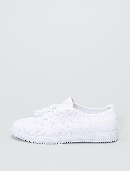 Zapatillas deportivas bajas de tela                             blanco