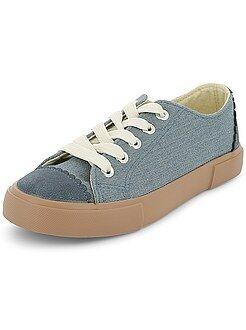 Zapatos niña - Zapatillas deportivas bajas de tela - Kiabi