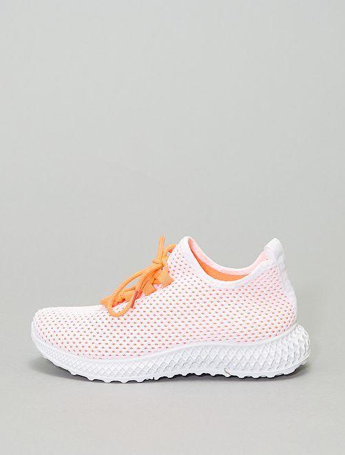 Zapatillas deportivas bajas de tela                             naranja