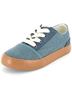 Zapatillas deportivas bajas efecto vaquero - Kiabi
