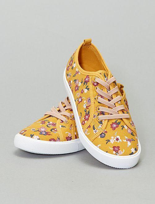Zapatillas deportivas bajas estampadas                                         amarillo