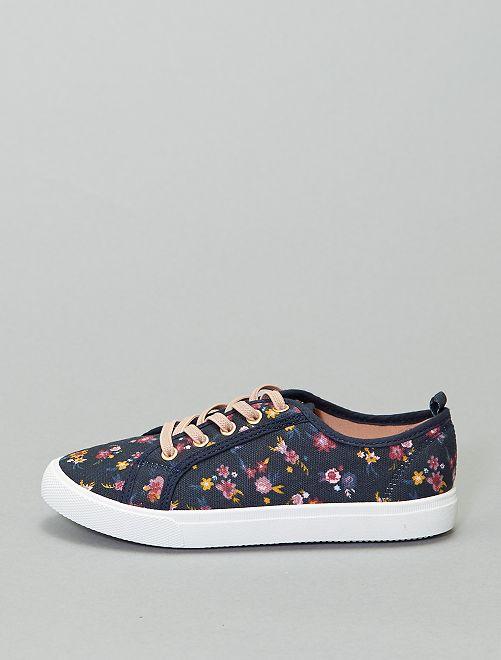 Zapatillas deportivas bajas estampadas                                                     azul navy